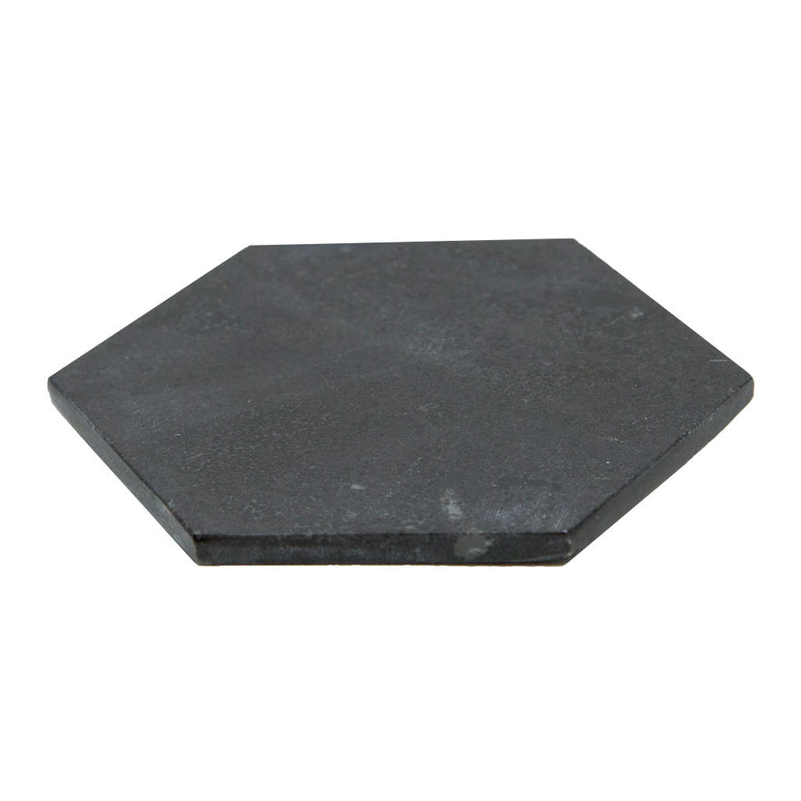 Coasters Amalfi Hexagon Marble Coaster   Black HXCS 01 B