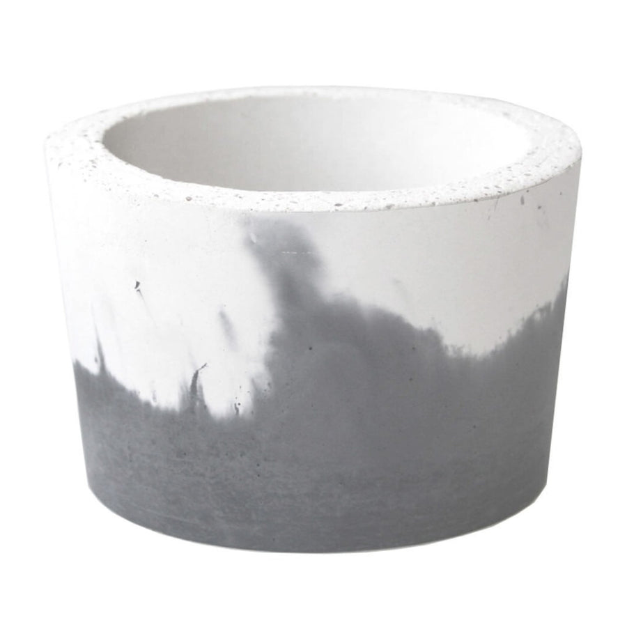 Concrete Succulent Pot - Medium, Grey