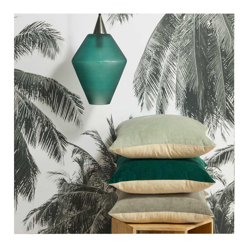 Cushions Amalfi Claudia Velvet Cushion, Emerald AMCU 234 EM
