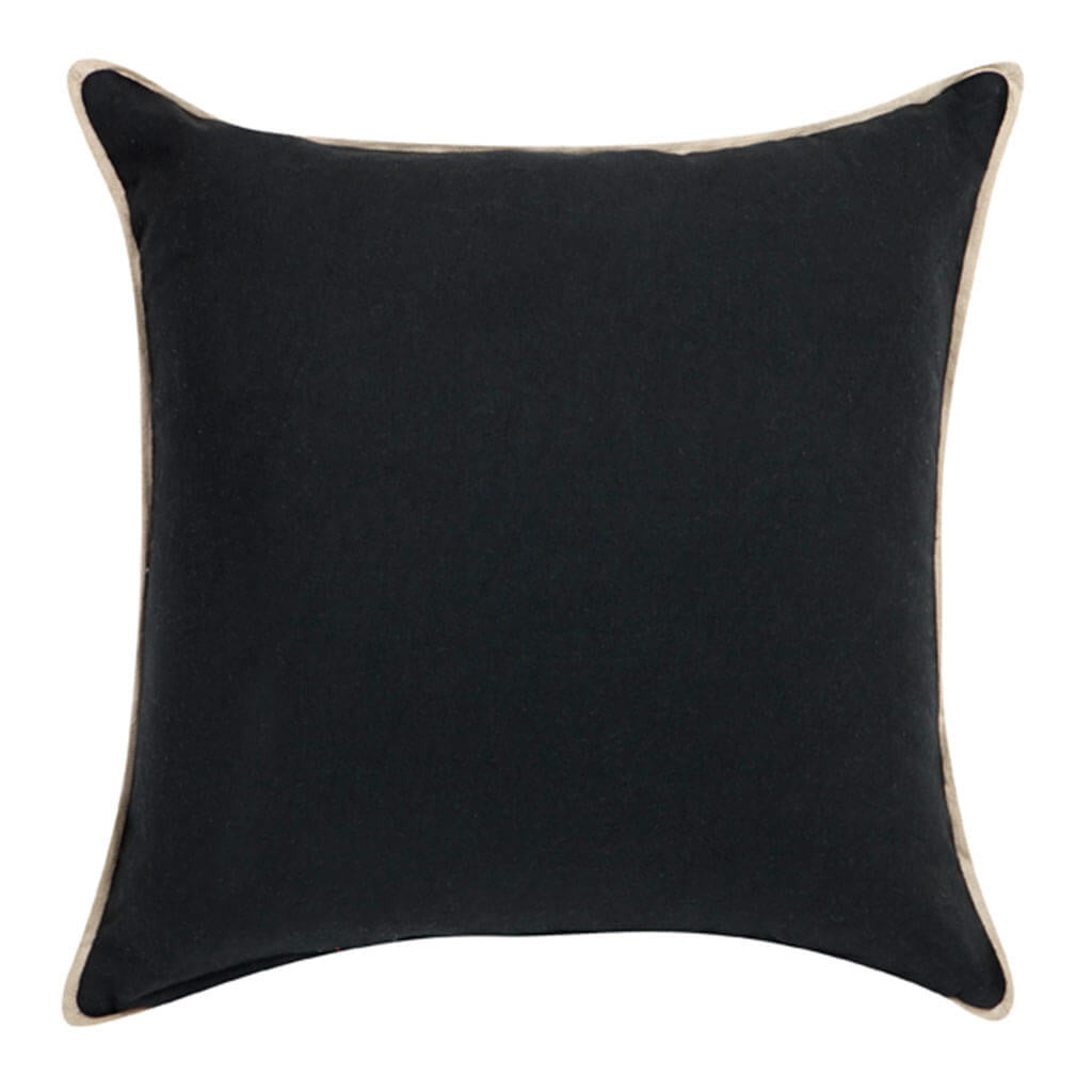 Cushions Cafe Lighting & Living Double Boucle Cushion, Black back 50941P