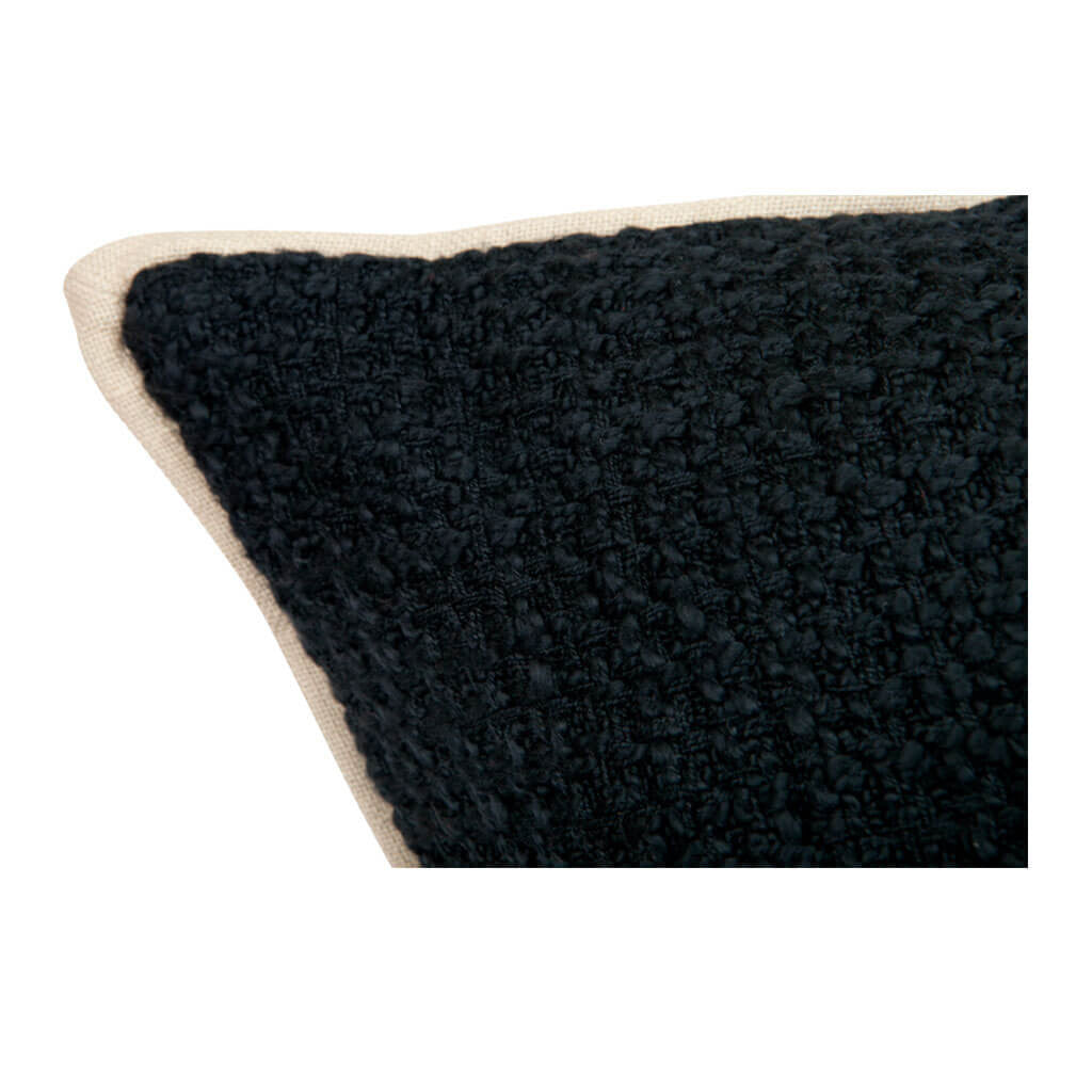 Cushions Cafe Lighting & Living Double Boucle Cushion, Black detail 50941P