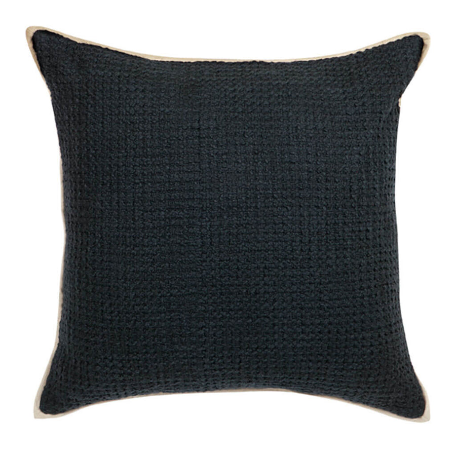 Cushions Cafe Lighting & Living Double Boucle Cushion, Black front 50941P