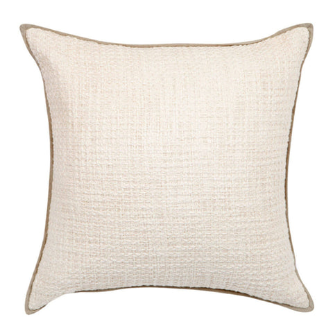 Double Boucle Cushion in White by Sounds Like Home