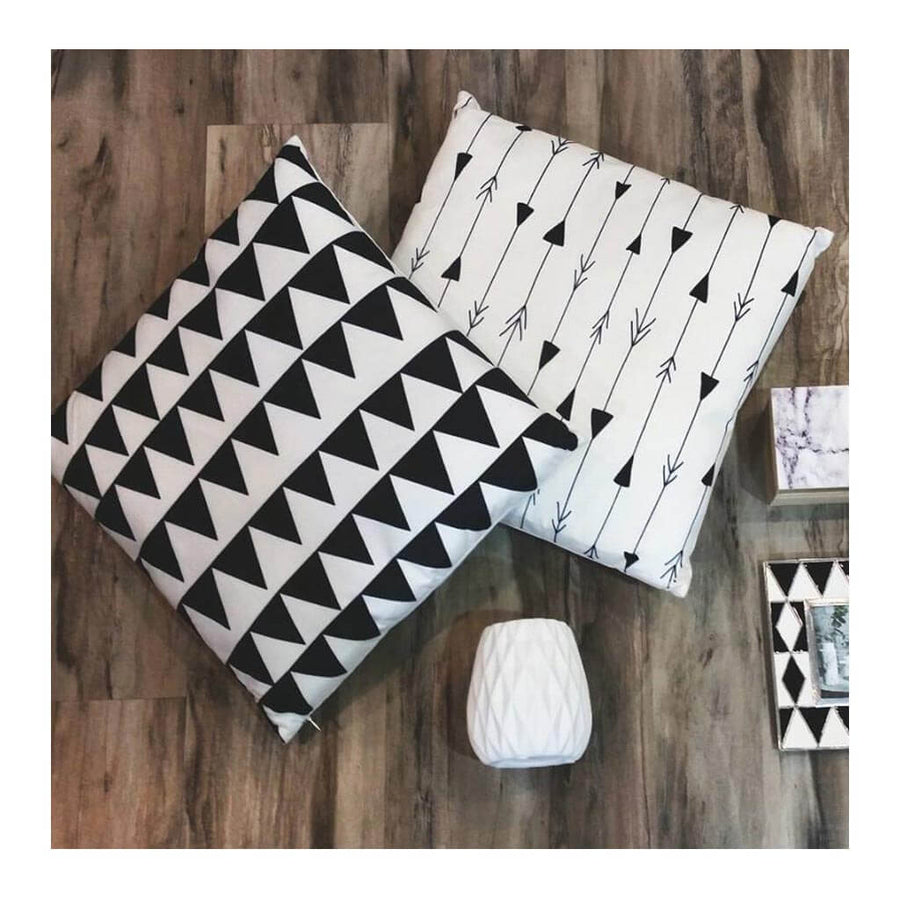 Cushion Emporium Chrome Cushion   Triangles CBCUE34 T