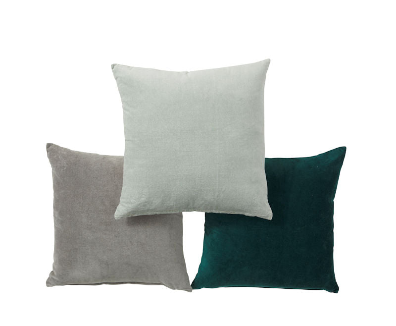Amalfi Claudia Velvet Cushion, Dusty Grey AMCU 234 GR