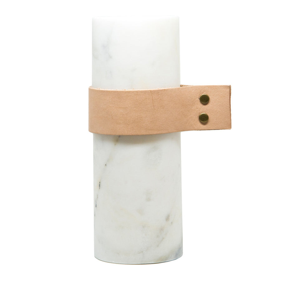 Decor Sounds Like Home Elementer marble + leather vase, small DFH2049