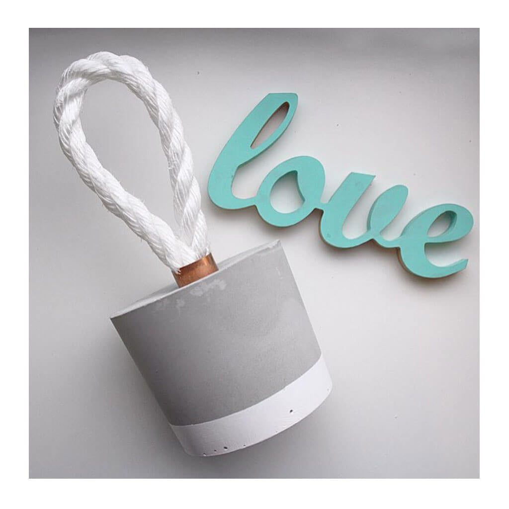 Decor Whitewick Home Concrete Door Stop and love sign