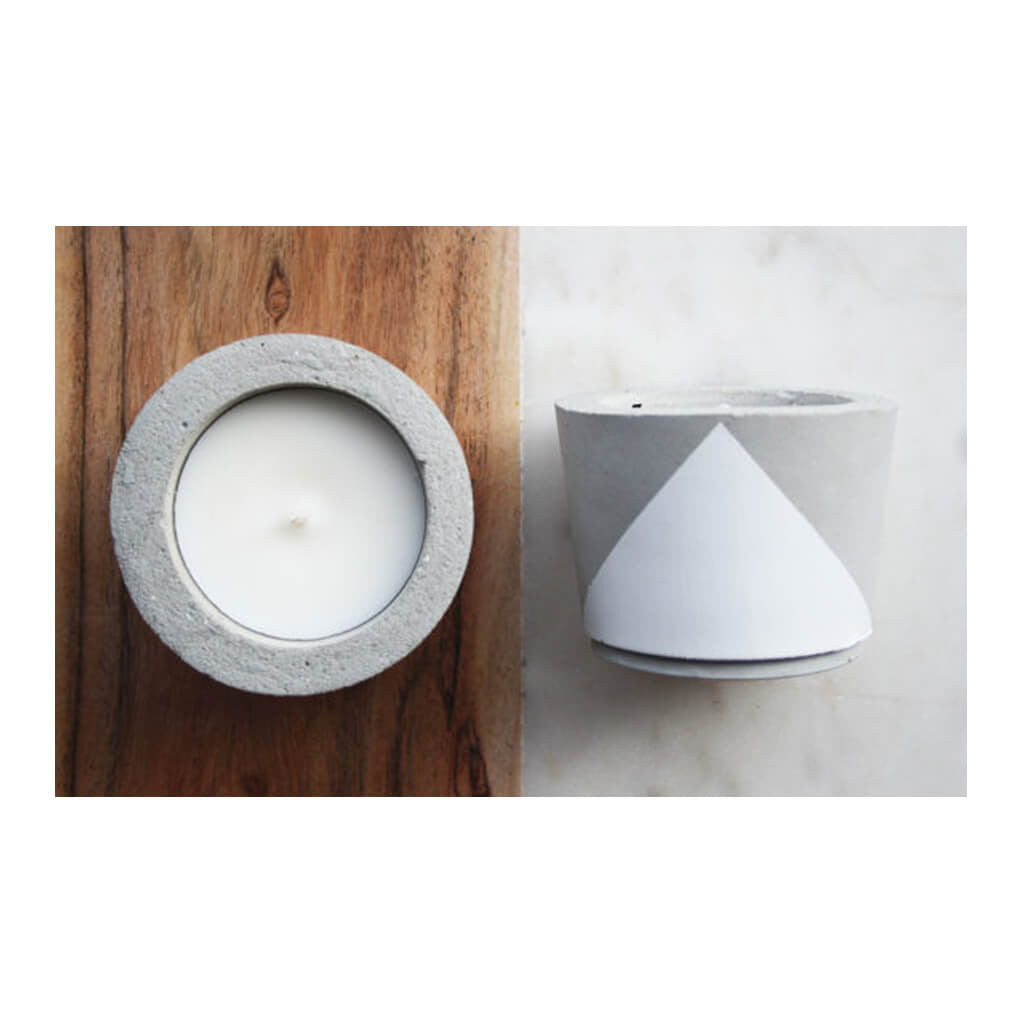 Decor Whitewick Home Concrete Soy Candle - Gardenia, Small lifestyle
