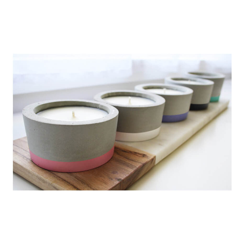 Decor Whitewick Home Concrete Soy Candle   Vanilla Caramel, Medium lifestyle