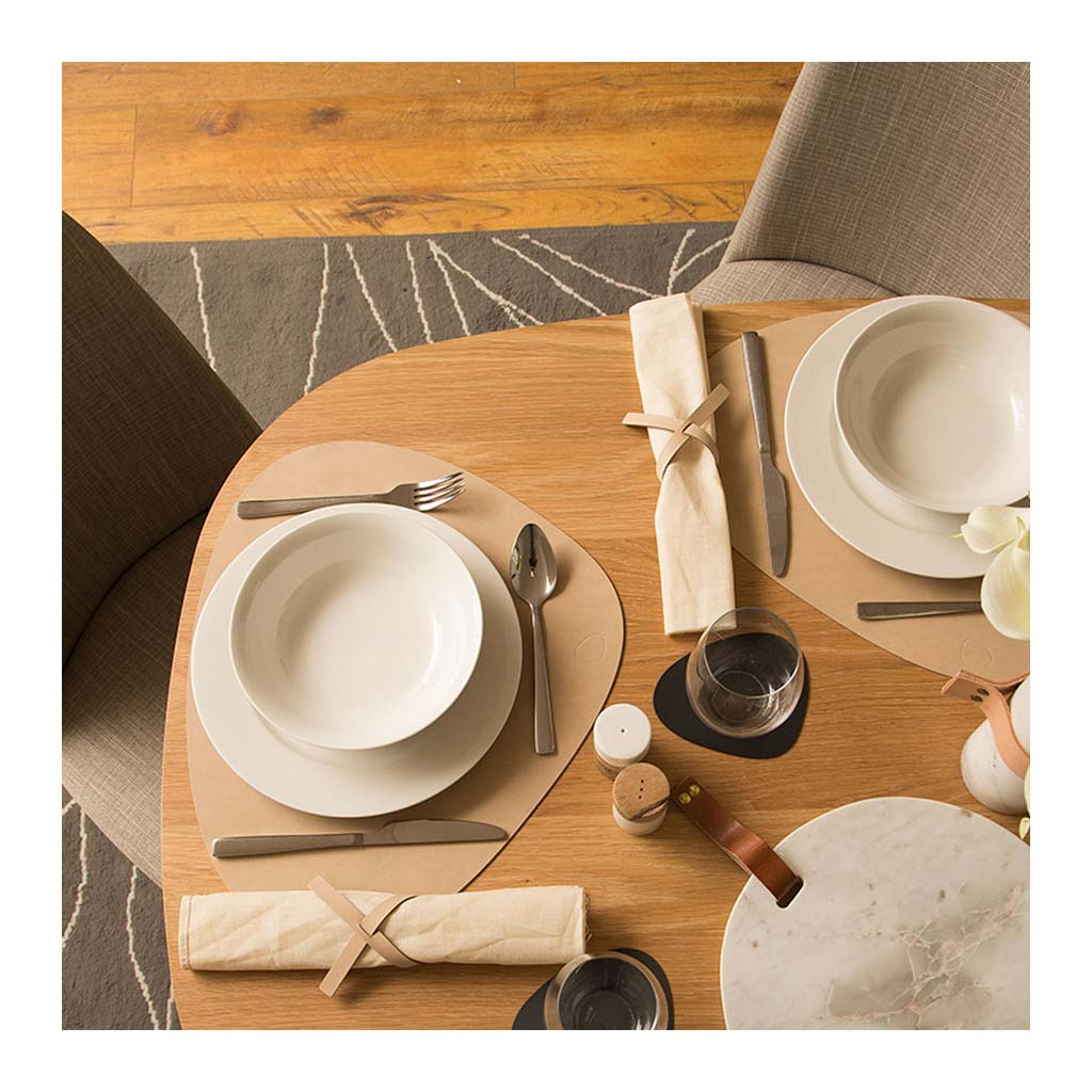 Tableware Lind DNA Nupo Curve Table Mat, Large in Sand dining table 981163