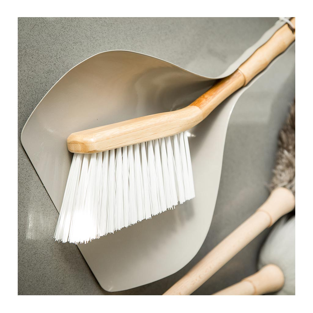 Home Cleaning Clean Smart Earth Bamboo Dustpan + Brush Set lifestyle CLE0005