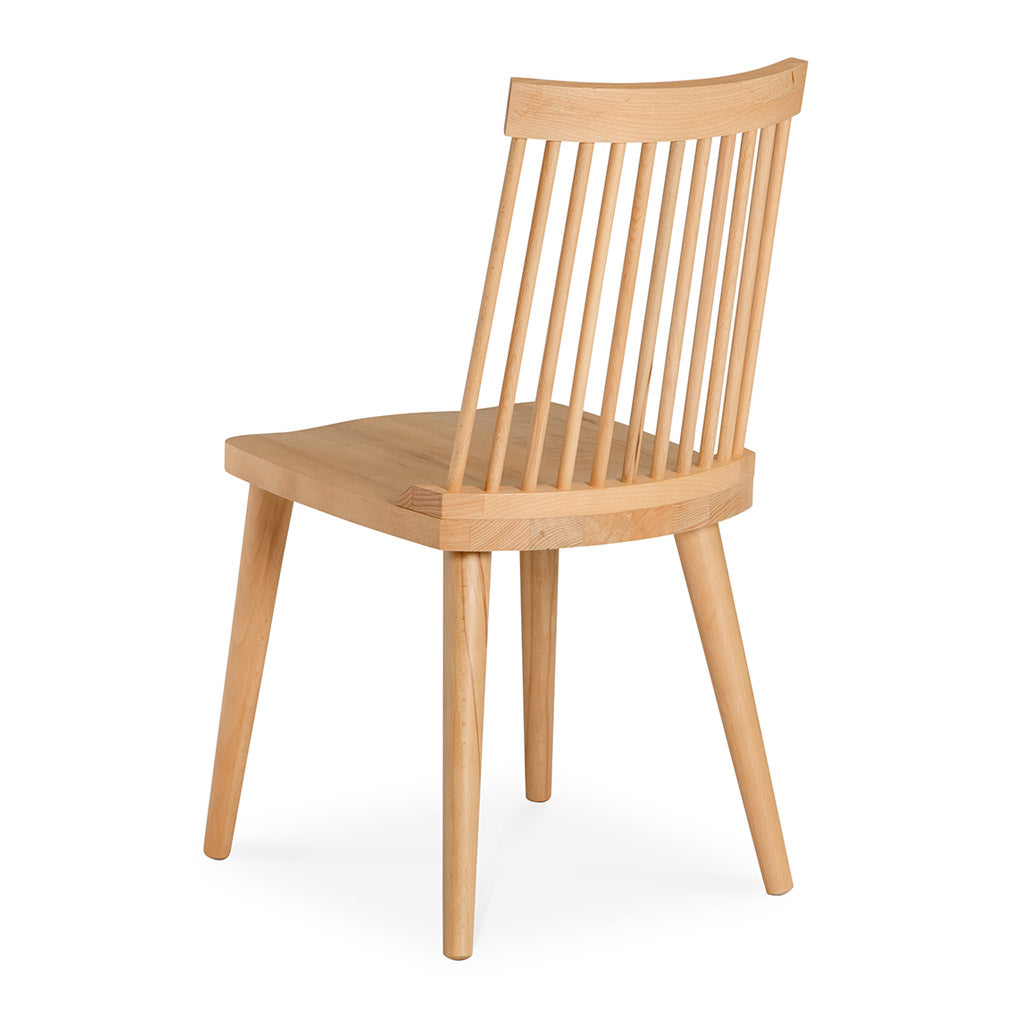 Elsa Scandinavian Wooden European Beech Spindle Dining Chair INTERIOR SECRETS DC790-VN Miles Spindle Back Dining Chair