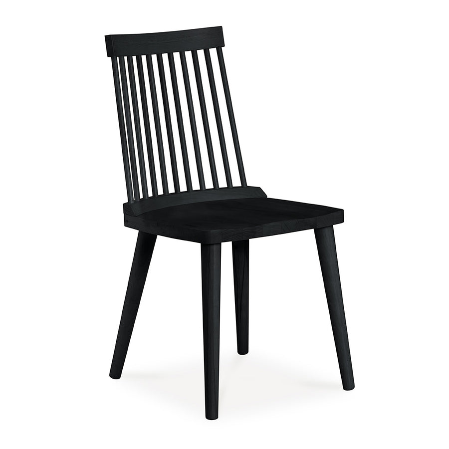 Elsa Scandinavian Wooden Black Spindle Dining Chair INTERIOR SECRETS  DC790-VN Miles Spindle Back Dining Chair