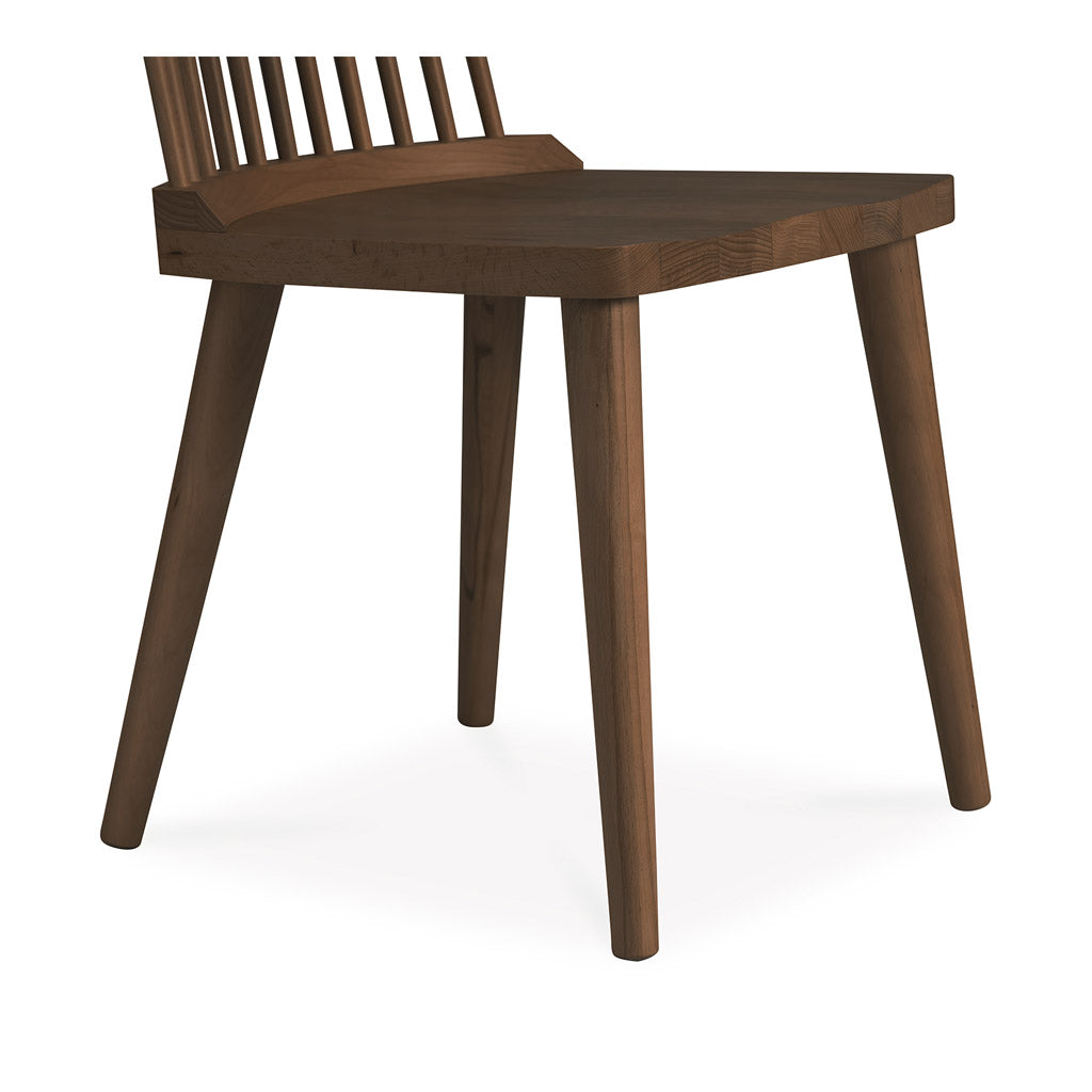 Elsa Scandinavian Wooden Walnut Spindle Dining Chair INTERIOR SECRETS  DC790-VN Miles Spindle Back Dining Chair