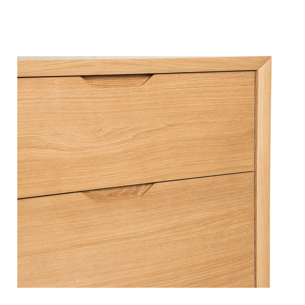 Erika Scandinavian Wooden Oak 6 Drawer Wide Chest of Drawers INTERIOR SECRETS  DT1057-VN Nora 6 Drawer Wide Chest - Natural , RETROJAN  Harper 6 Drawer Chest - Oak