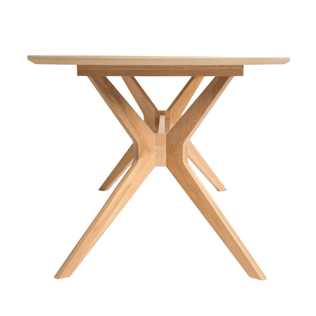 Erika Scandinavian Wooden Oak 6 Seater Dining Table BROSA Elizabeth Dining Table INTERIOR SECRETS DT952-VN Nora Fixed Wooden Dining Table
