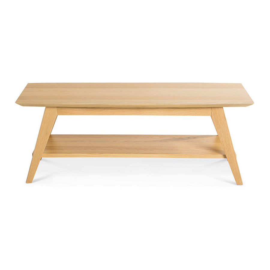 Erika Scandinavian Wooden Oak Coffee Table with Shelf BROSA CTBELZ20OAK Elizabeth Coffee Table, INTERIOR SECRETS  CF1030-VN Nora Oak Coffee Table, RETROJAN Harper Coffee Table - Oak, MATT BLATT  Fleetwood Coffee Table