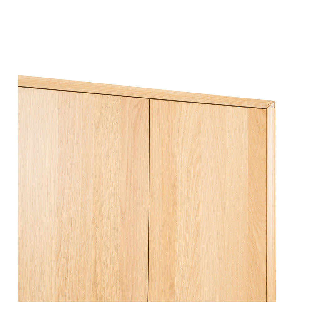 Erika Scandinavian Wooden Oak Double Wardrobe