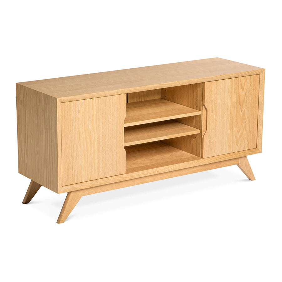 Erika Scandinavian Wooden Oak Entertainment Unit BROSA TBLELZ21OAK Elizabeth Entertainment Unit