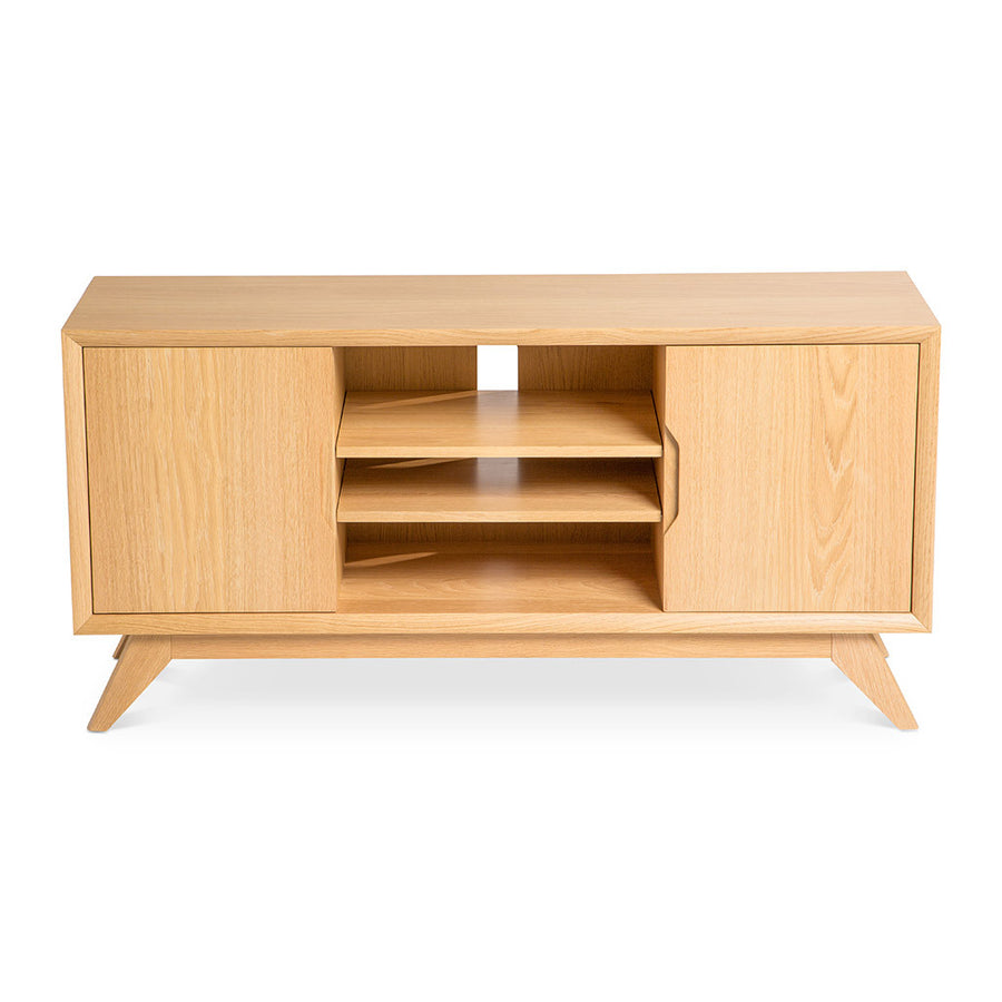 Erika Scandinavian Wooden Oak Entertainment Unit BROSA TBLELZ21OAK Elizabeth Entertainment Unit, RETROJAN Harper AV Unit - Oak