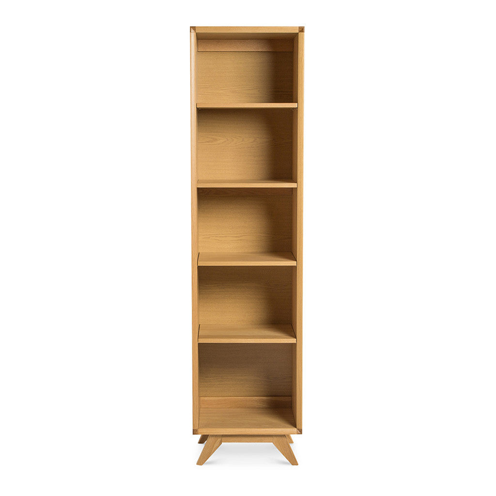 Erika Scandinavian Wooden Oak Narrow Bookcase / Bookshelf BROSA Elizabeth Narrow Bookcase