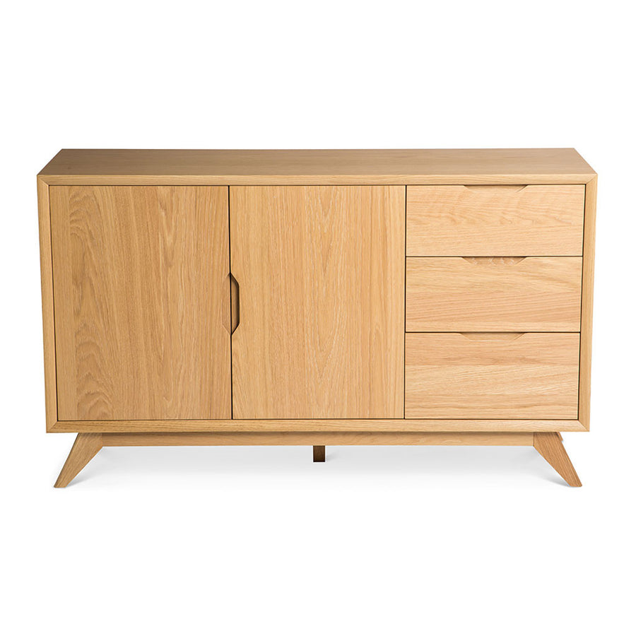 Erika Scandinavian Wooden Oak Sideboard BROSA Elizabeth Sideboard RETROJAN Palemo Contemporary Wide Oak Sideboard