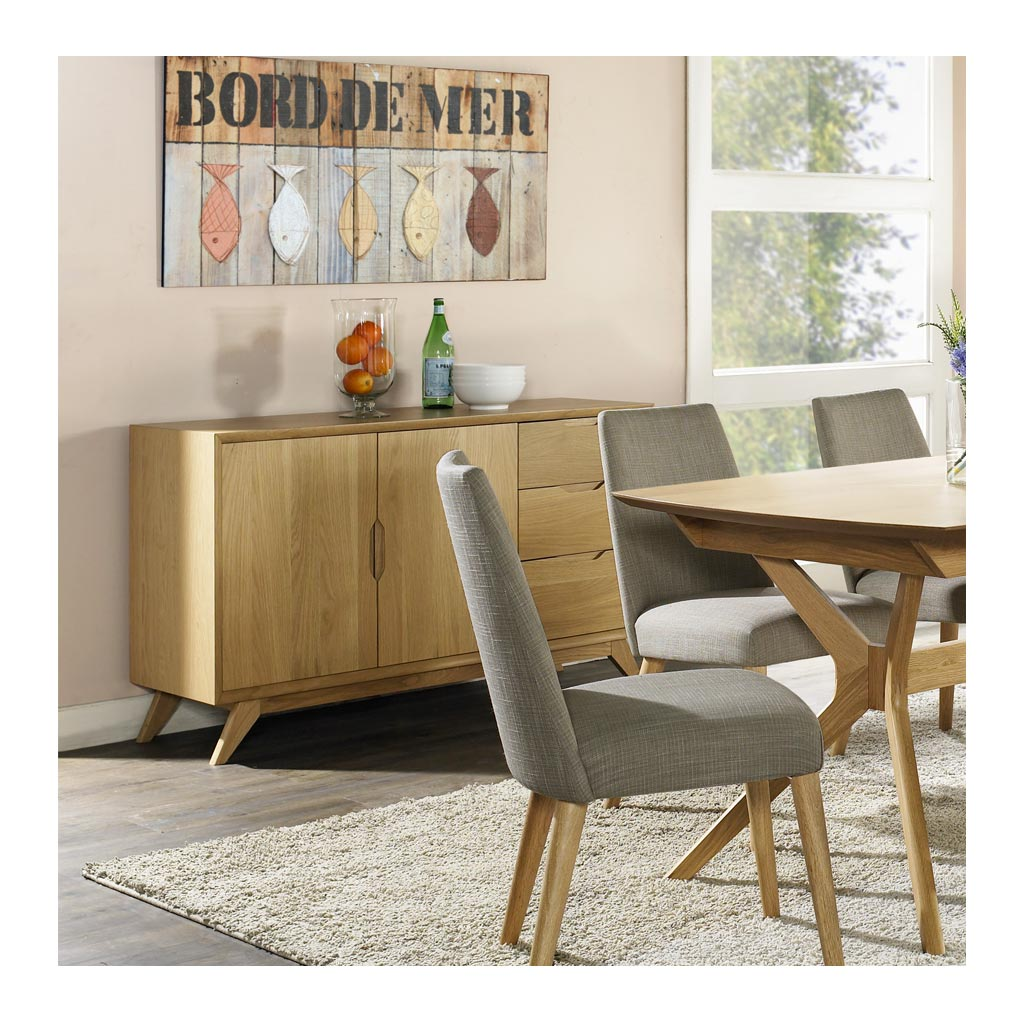 Erika Scandinavian Wooden Oak Sideboard BROSA Elizabeth Sideboard RETROJAN Palemo Contemporary Wide Oak Sideboard Lifestyle