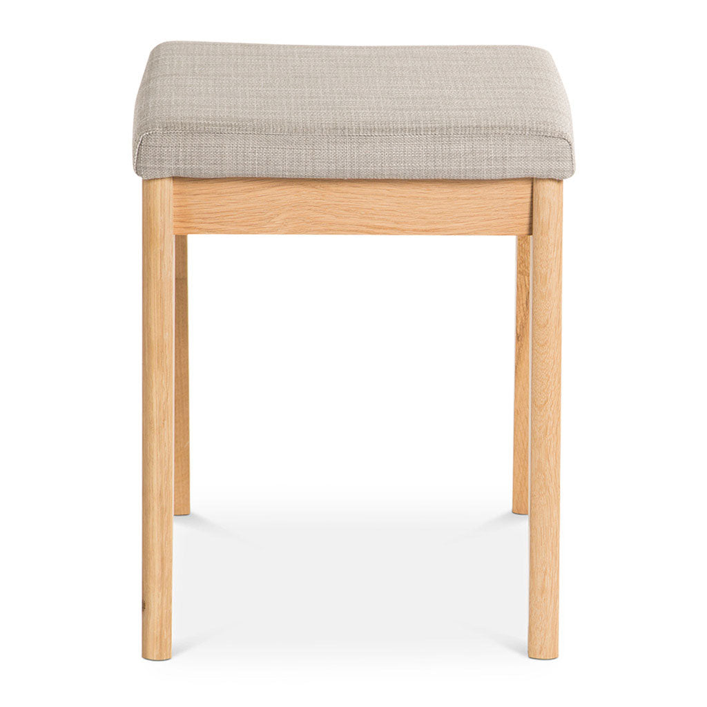Erika Scandinavian Wooden Oak and Fabric Stool