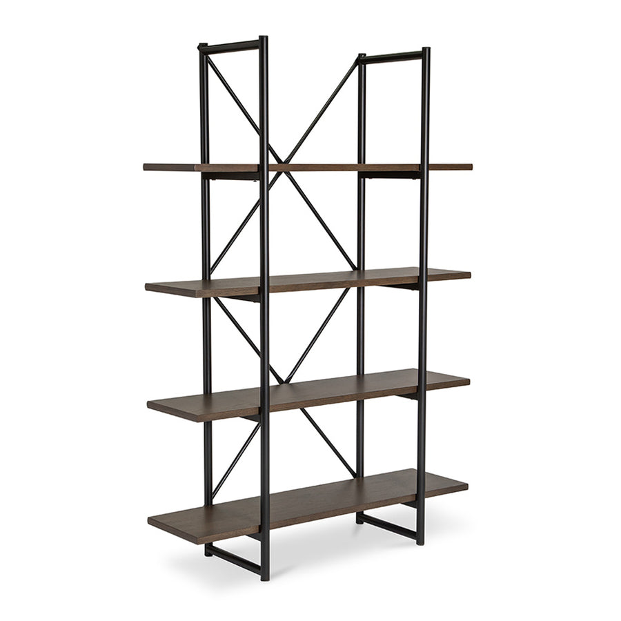 Finn Modern Industrial Scandinavian Bookshelf / Display Shelf BROSA SHLFIE09GRY Field Double Open Shelf