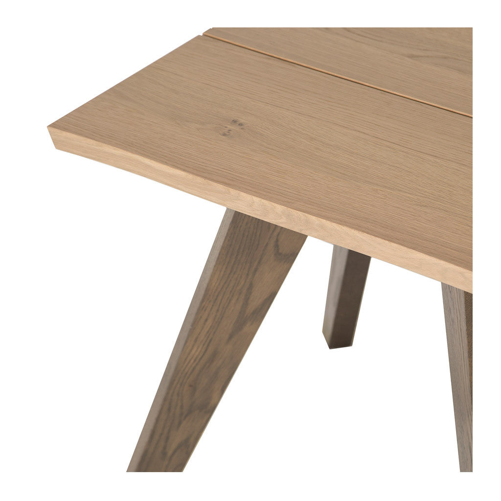 Fredrik Rustic Industrial Scandinavian Wooden Oak Side Table
