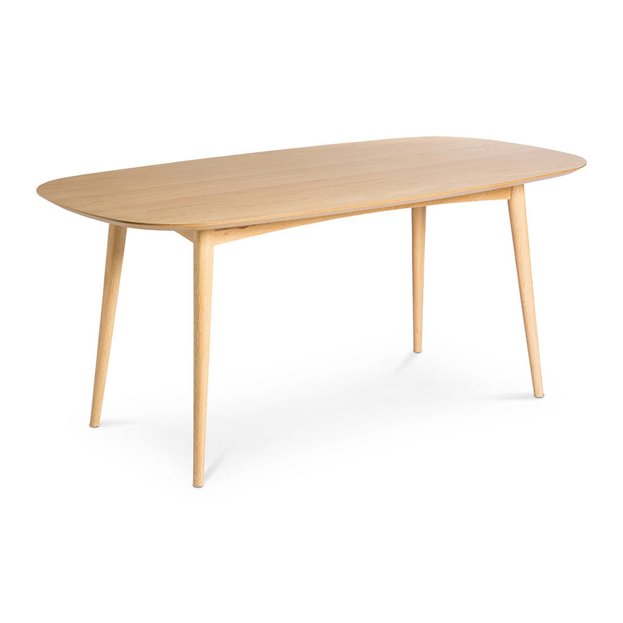 Ingrid Retro Scandinavian Wooden Oak 6 Seater Dining Table BROSA Mia 175cm Dining Table INTERIOR SECRETS DT781-VN Johansen Scandinavian Fixed Dining Table - Natural LIFE INTERIORS Stockholm Dining Table (Oak)