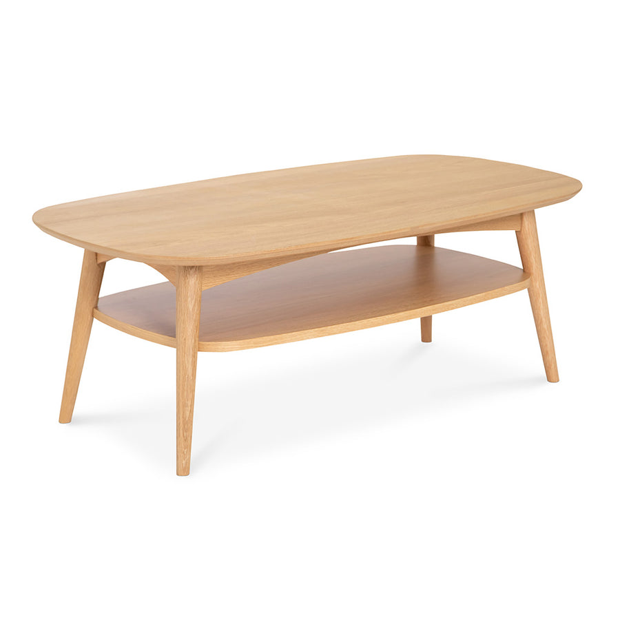 Ingrid Retro Scandinavian Wooden Oak Coffee Table with Shelf BROSA Mia Coffee Table with Shelf INTERIOR SECRETS CF690-VN Johansen Scandinavian Coffee Table - Natural MATT BLATT Stockholm Jakob Coffee Table with Shelf LIFE INTERIORS Stockholm Coffee Table (Shelf, Oak)