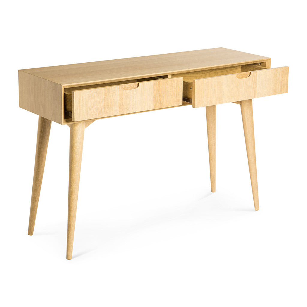 Ingrid Retro Scandinavian Wooden Oak Console Table with Drawers BROSA Mia  Console Table With Drawers INTERIOR. Ingrid Scandinavian Wooden Console Table with Drawers   The Design