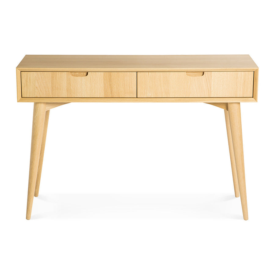 Ingrid Retro Scandinavian Wooden Oak Console Table with Drawers BROSA Mia Console Table With Drawers INTERIOR SECRETS DT776-VN Johansen Console Table with Drawers RETROJAN Vaasa Tyson Console - Oak MATT BLATT Stockholm Console Table