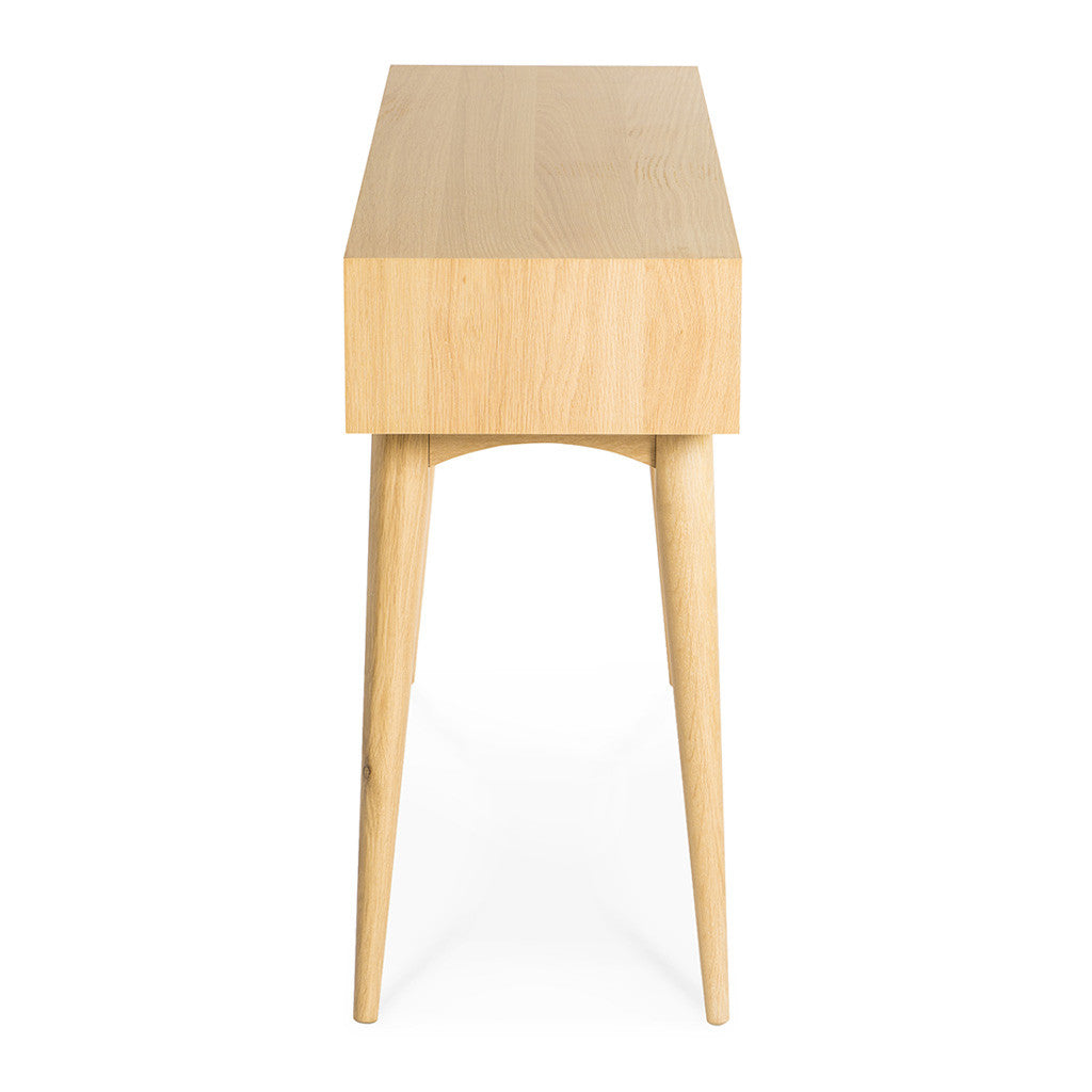 Ingrid Retro Scandinavian Wooden Oak Console Table With Drawers BROSA Mia Console  Table With Drawers INTERIOR