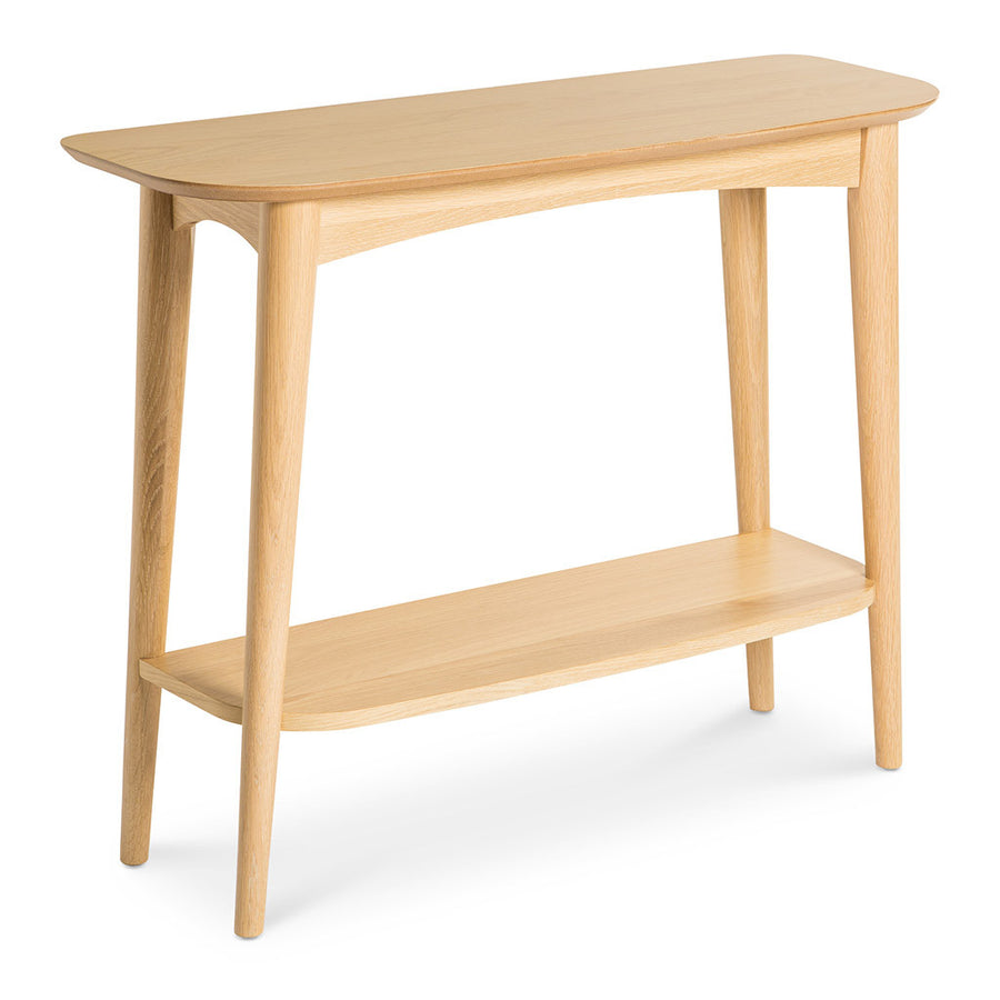 retro hall table. Ingrid Retro Scandinavian Wooden Oak Console Table With Shelf BROSA Mia INTERIOR Hall