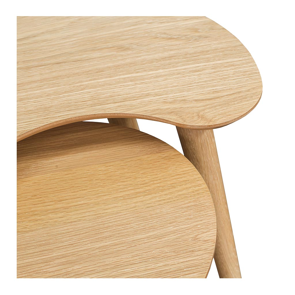 Ingrid Retro Scandinavian Wooden Oak Nesting Tables BROSA TBLMIA04OAK Mia Nest of Tables, INTERIOR SECRETS  CF693N-VN Johansen Nest of Side Tables - Natural, MATT BLATT  Stockholm Nest of 2 Tables, LIFE INTERIORS Stockholm Nest of Tables (Oak)