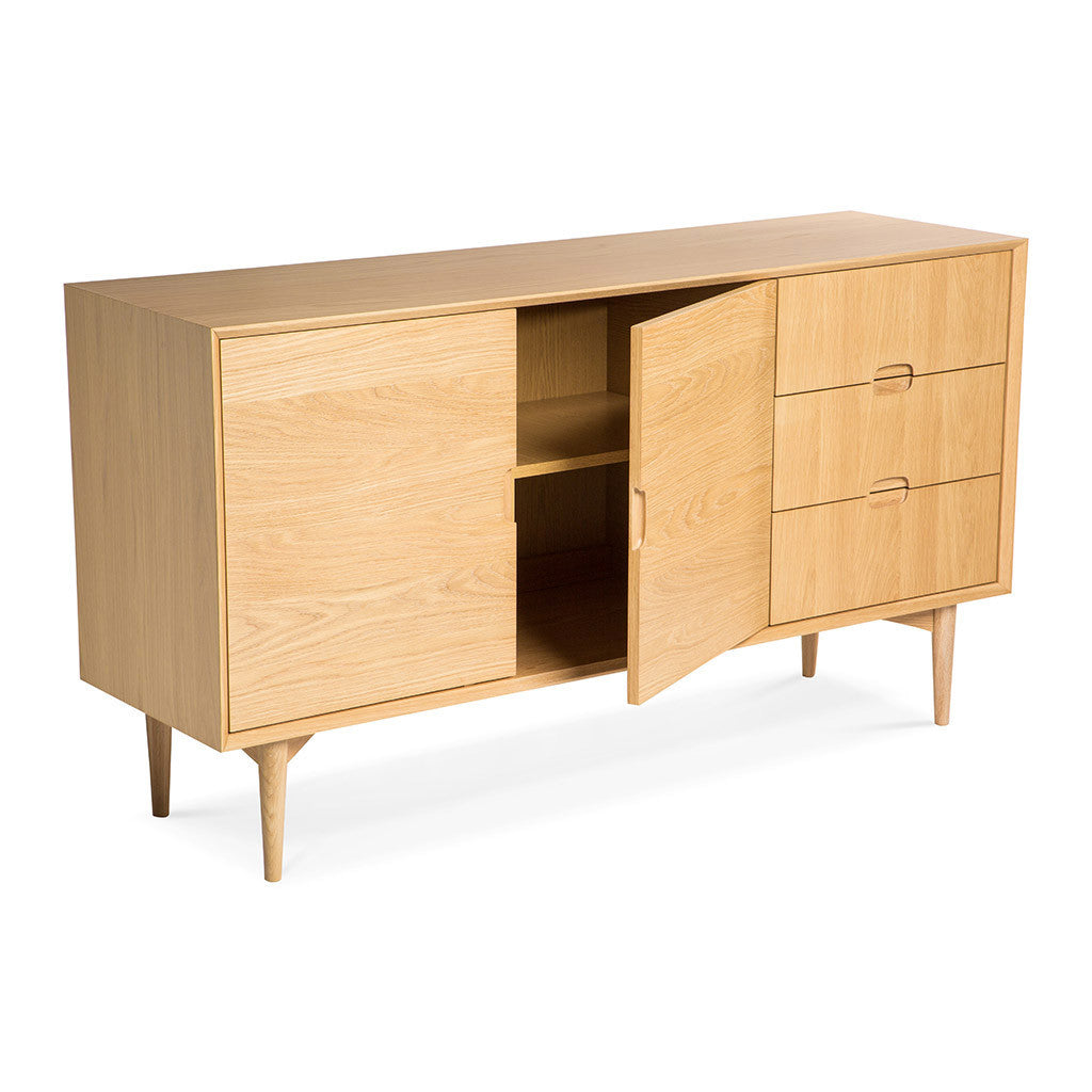 Ingrid Scandinavian Wooden Sideboard The Design Edit
