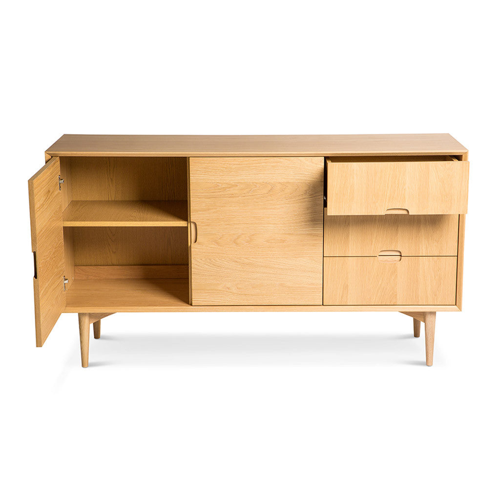Ingrid Retro Scandinavian Wooden Oak Sideboard BROSA Mia Sideboard INTERIOR SECRETS DT770-VN Johansen Scandinavian Buffet Cabinet - Natural RETROJAN Vaasa Marlon Danish Inspired Wide Sideboard - Oak MATT BLATT Helvig Sideboard LIFE INTERIORS Stockholm Sideboard (Oak)