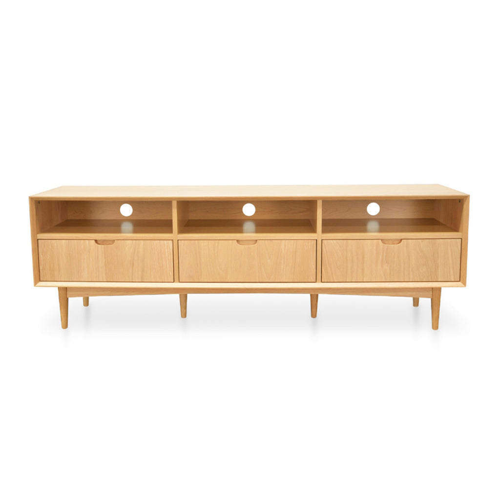 Ingrid Retro Scandinavian Wooden Oak Wide Entertainment Unit BROSA ETUMIA16OAK Mia Large Entertainment Unit, INTERIOR SECRETS  TV2117-VN Johansen Scandinavian TV Entertainment Unit With 3 Drawers - Natural, MATT BLATT  Stockholm 3 Drawer Entertainment Unit