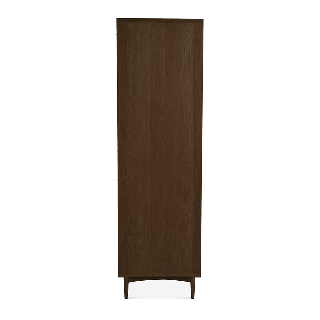 Isaak Danish Scandinavian Walnut and Beech Wood Freestanding Double Wardrobe