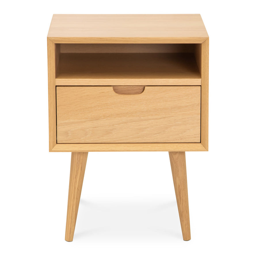 Jakob Danish Scandinavian Wooden Oak Bedside Table with Drawer BROSA STBETH01OAK Ethan Square Side Table, INTERIOR SECRETS  CF695-VN Asta SQ Wooden Bedside Table, RETROJAN Mia Contemporary Nightstand with Shelf, LIFE INTERIORS Orbit 1 Drawer Nightstand (Oak), TEMPLE AND WEBSTER TPWT2532 Olsen Oak Square 1 Drawer Bedside Table