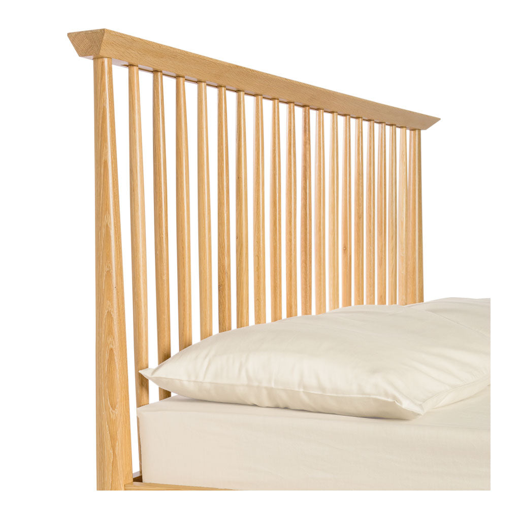 Jakob Danish Scandinavian Wooden Oak King Bed BROSA BEDETH10OAK Ethan King Size Wooden Bed Frame