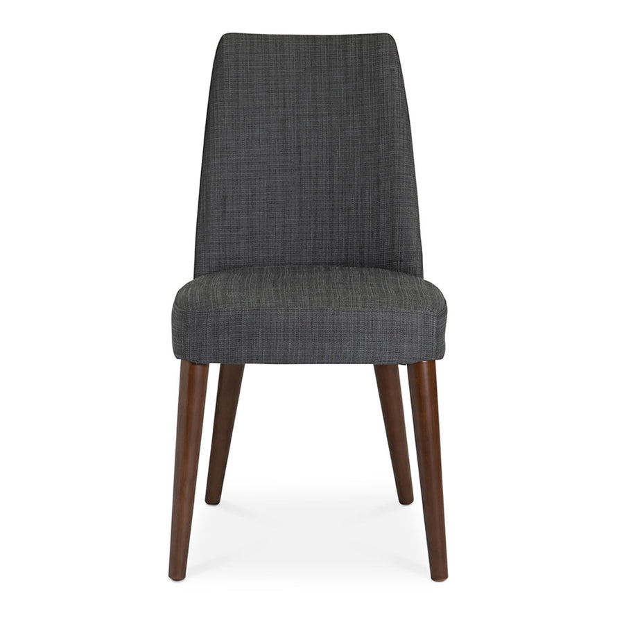 Jensen Scandinavian Walnut European Beech Wood and Dark Grey Fabric Dining Chair