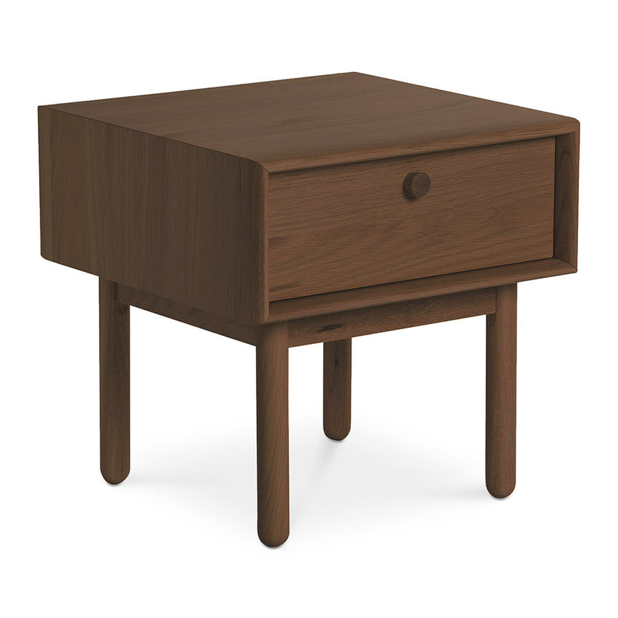 Kenjin Japanese Scandinavian Walnut and Beech Wood Bedside Table with Drawer INTERIOR SECRETS  ST2142-VN Kenston Lamp Side Table with Drawer - Walnut, RETROJAN Akira Contemporary Side Table - Walnut, LIFE INTERIORS Koto Bedside Table with 1 Drawer (Walnut)