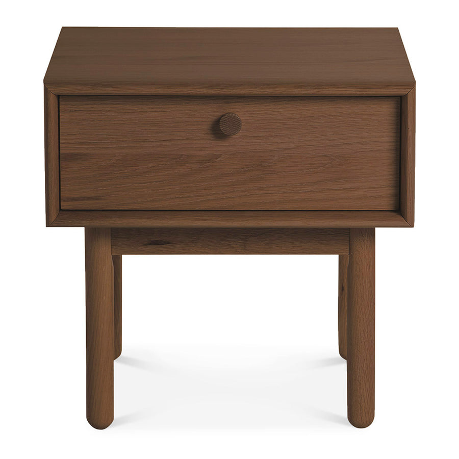 Kenjin Japanese Scandinavian Walnut and Beech Wood Bedside Table with Drawer INTERIOR SECRETS  ST2142-VN Kenston Lamp Side Table with Drawer - Walnut, LIFE INTERIORS Koto Bedside Table with 1 Drawer (Walnut)
