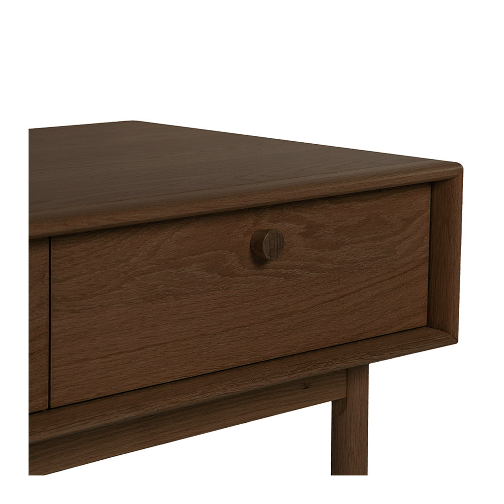 Kenjin Japanese Scandinavian Walnut and Beech Wood Coffee Table with Drawers LIFE INTERIORS Koto Coffee Table with Drawer (Walnut)