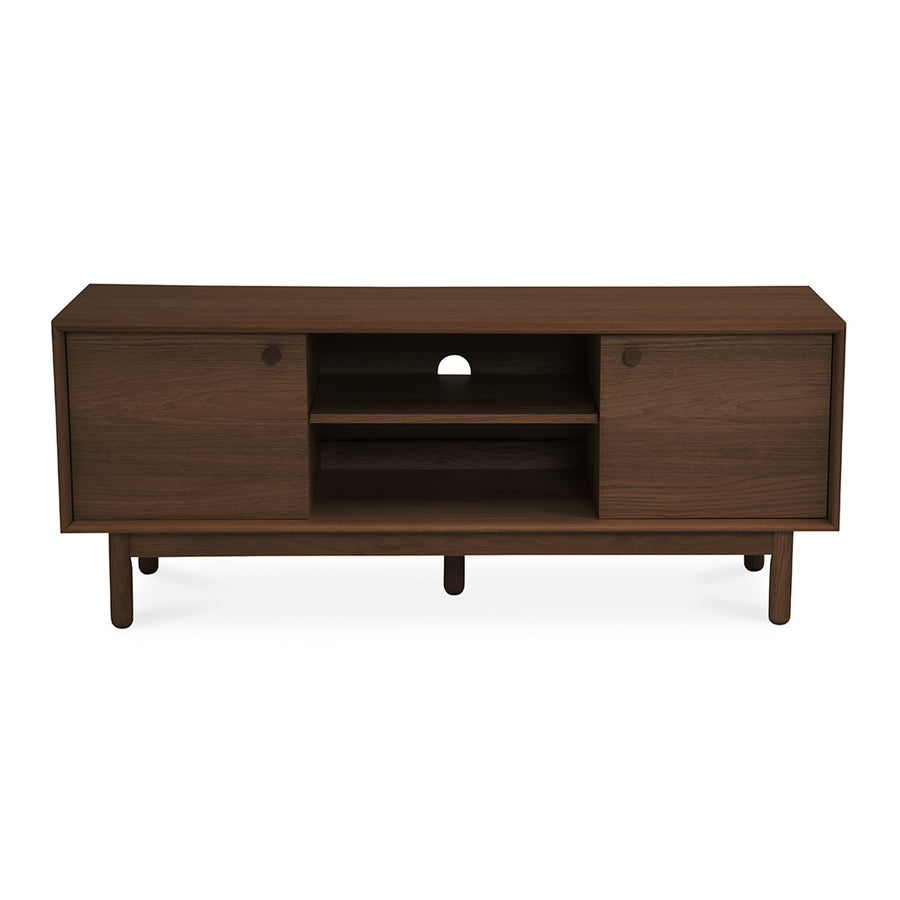 Kenjin Japanese Scandinavian Walnut and Beech Wood Entertainment Unit LIFE INTERIORS Koto Entertainment Unit (Walnut, Small)