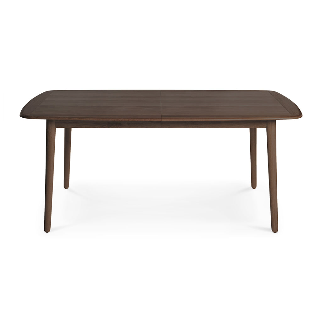 Kenjin Japanese Scandinavian Walnut and Beech Wood Extendable 6 - 8 Seater Dining Table