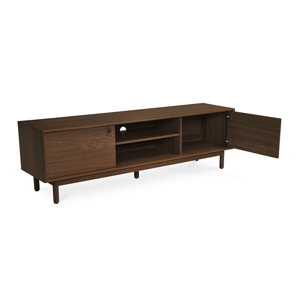 Kenjin Japanese Scandinavian Walnut and Beech Wood Wide Entertainment Unit INTERIOR SECRETS  TV887-VN Kenston 1.8m TV Entertainment Unit in Walnut, RETROJAN Akira Contemporary Entertainment Unit - Walnut, LIFE INTERIORS Koto Entertainment Unit (Walnut, Large)